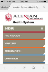 image of Alexian Brothers Health System Wins 2014 Best Healthcare Provider Mobile Website Mobile WebAward for Alexian Brothers Health System/ CareTech Solutions