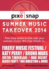 image of Pixe Social Wins 2014 Best Social Network Mobile Application Mobile WebAward for Pixe Snap Summer Music Take Over