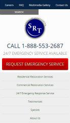 image of TopSpot Internet Marketing Wins 2014 Best Construction Mobile Website Mobile WebAward for Specialty Restoration of Texas Responsive Website