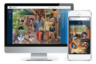 image of Noble Studios Wins 2014 Best University Mobile Website, Best of Show Mobile Website Mobile WebAward for Queens University of Charlotte Personalized Tour