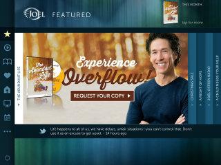 image of Joel Osteen Ministries Wins 2014 Best Faith-based Mobile Application Mobile WebAward for Joel Osteen Ministries iPad App