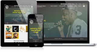 image of JLOOP Wins 2014 Best Music Mobile Website Mobile WebAward for Warner / Chappell Music
